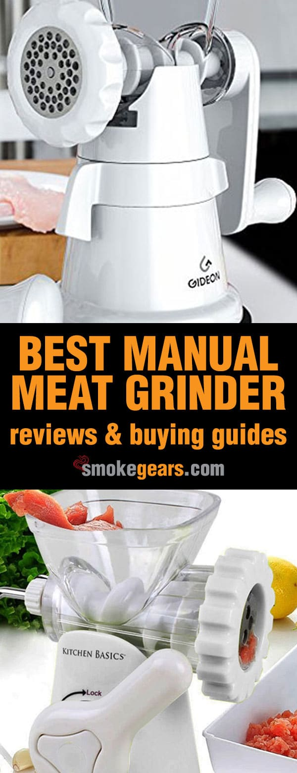 Best manual meat grinder reviews Pinterest banner