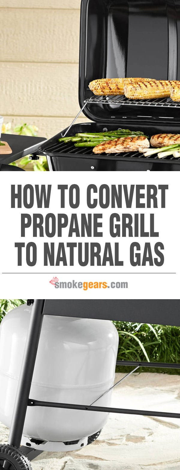 Convert propane grill to natural gas