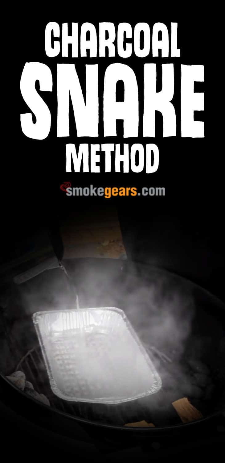 Charcoal snake method kettle grill