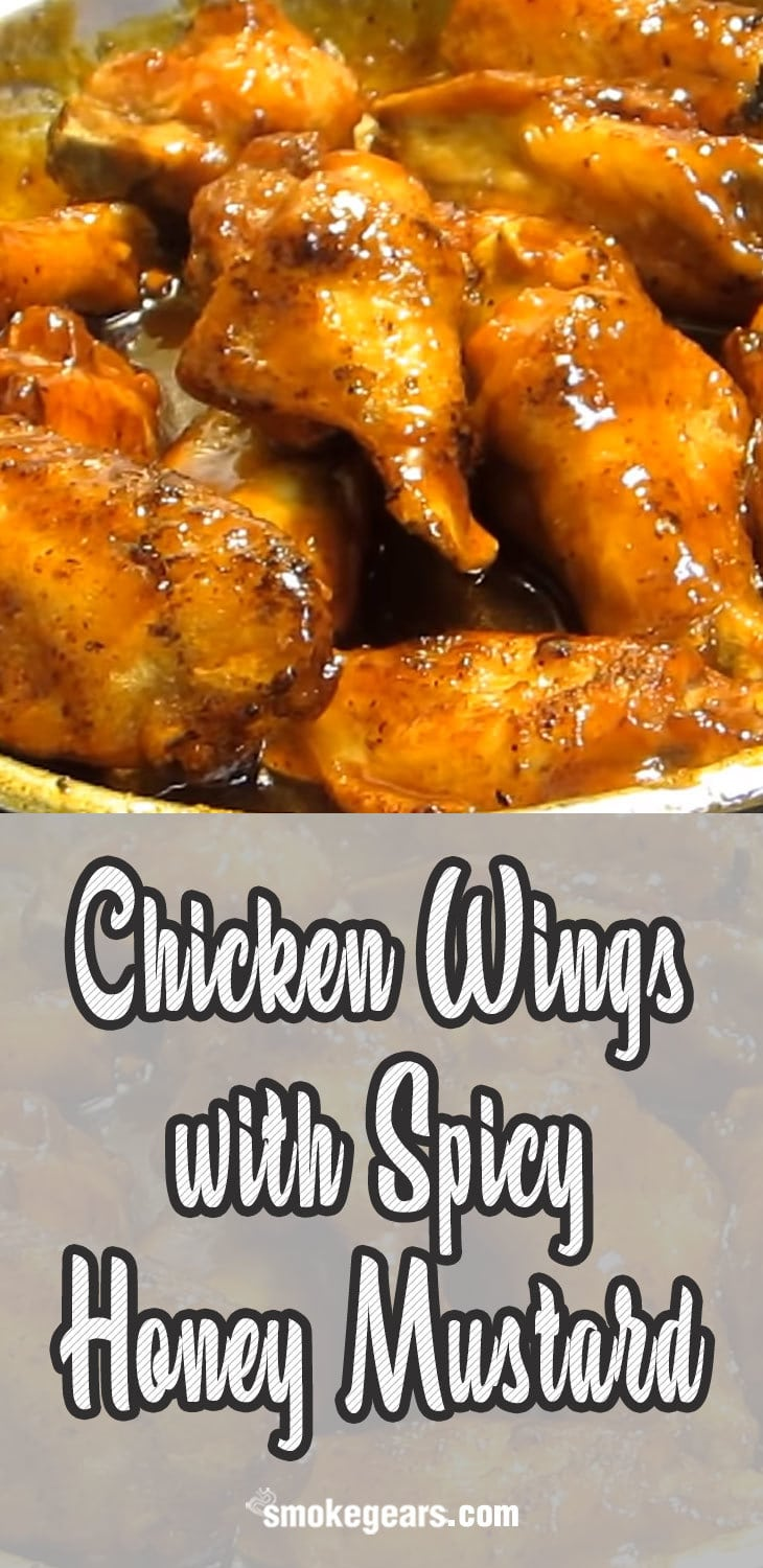Chicken Wings with Spicy Honey Mustard