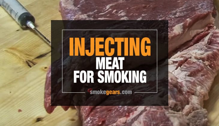Injecting meat for smoking