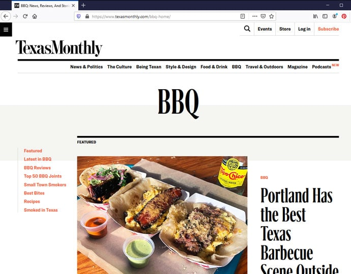 Texas Monthly BBQ